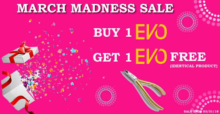 March Madness Sale, Buy 1 Evo, Get 1 Evo free